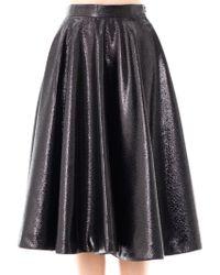 Lulu & Co - Metallic Full Pleated Skirt - Lyst