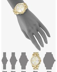 Marc By Marc Jacobs Henry Goldtone Stainless Steel Chronograph Bracelet Watch - Lyst