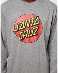 Santa Cruz - Dot Crew Sweat - Lyst