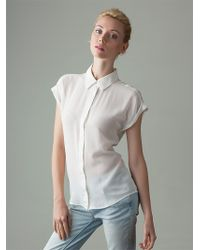 Vaughan The Bettie Silk Shirt - Stark Naked White - Lyst