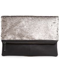 Mango Sequined Folded Clutch - Lyst