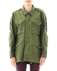 3.1 Phillip Lim Knitted Panel Parka - Lyst