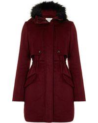 Linea Weekend - Ladies Hooded Wool Parka Coat - Lyst