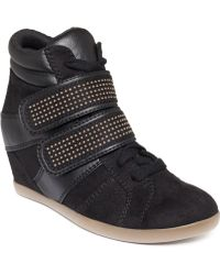 Material Girl - Visitor Studded Wedge Sneakers - Lyst