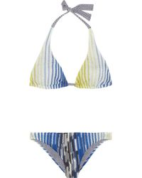 Missoni Zig Zag and Crochet Knit Halterneck Bikini - Lyst