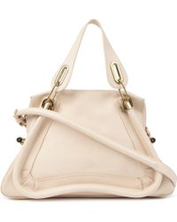 Chloé Paraty Medium Calfskin Bag White - Lyst