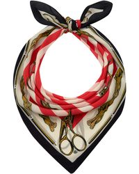 Mother Of Pearl | Red Sofia Silk Scarf | Lyst