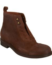 Sartore Distressed Laceless Ankle Boots - Lyst
