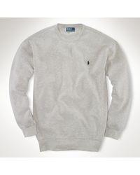 Polo ralph lauren Fleece Crewneck Sweatshirt in Gray for Men   Lyst