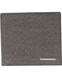 Giorgio Armani Leather Bi-Fold Wallet - Lyst