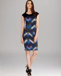Karen Millen Geo Dotprint Dress - Lyst