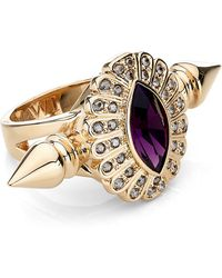 Mawi - Oval Crystal Double Spiked Ring - Lyst