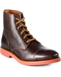 Walk-Over Humbolt Leather Boots - Lyst