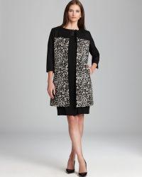 Adrianna Papell | Animal Print Coat | Lyst