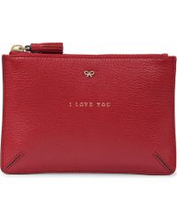 Anya Hindmarch Loose Pocket I Love You Pouch - Lyst