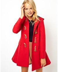 Asos Asos Hooded Duffle Coat - Lyst