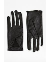 French Connection - Triangle Leather Gloves - Lyst