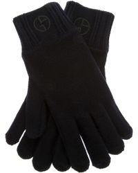 Giorgio Armani - Wool Knit Gloves - Lyst