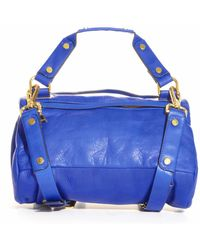 Golden Lane - Midnight Blue Leather Duo Satchel  - Lyst
