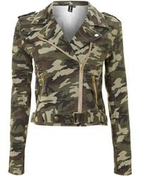 Izabel London - Camouflage Print Jacket - Lyst