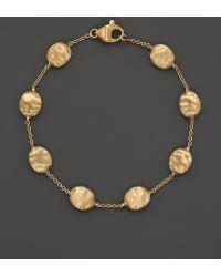 Marco Bicego - 18k Yellow Gold Single Strand Bracelet - Lyst