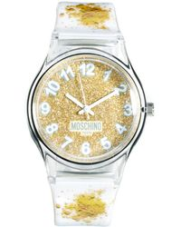 Boutique Moschino - Be Fashion Splatter Gold Watch - Lyst