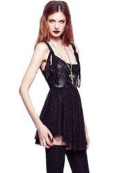 For Love & Lemons Clara Leather Bustier Mini Dress - Lyst
