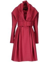 John Galliano Red Coat - Lyst
