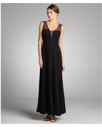 Max & Cleo - Lace and Chiffon Ariel Evening Gown - Lyst