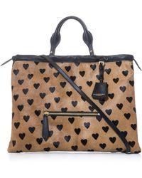 Burberry Prorsum - Big Crush Heart Ponyhair Bag - Lyst