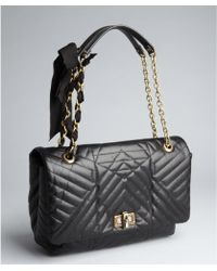 Lanvin Black Quilted Leather Happy Chain Shoulder Bag - Lyst