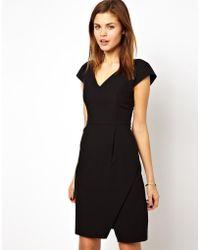A Wear - V Neck Wrap Dress - Lyst