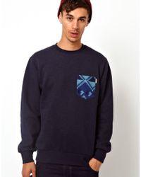 Carhartt Crew Sweatshirt Eaton Navajo Pocket - Lyst