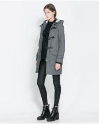 Zara Two sided Coat - Lyst