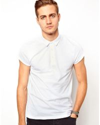 Simon Carter - Asos Polo in Jersey with Roll Sleeve - Lyst