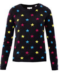 Chinti & Parker Intarsia Star Knit Sweater - Lyst