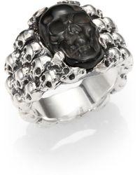 King Baby Studio - Obsidian Skull Ring - Lyst