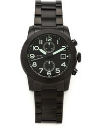 Marc By Marc Jacobs - Larry Chronograph Black Watch - Lyst