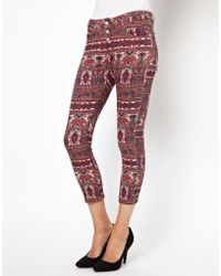 Asos Somedays Lovin Skinny Jeans in Paisley Print - Lyst