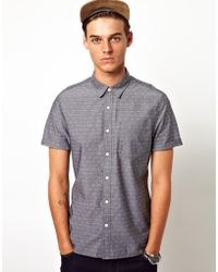Simon Carter - Shirt in Short Sleeve with Polka Dot Print - Lyst