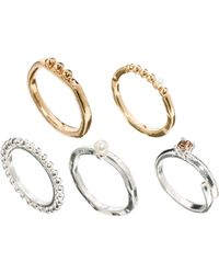 Asos Pretty Mix Mid Finger Ring Pack - Lyst