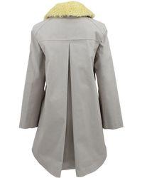 Hancock - Swing Raincoat with Fur Collar - Lyst
