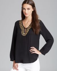 Plenty by Tracy Reese - Quotation Blouse Embellished Peasant - Lyst