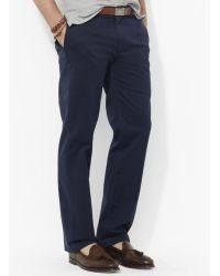 Ralph Lauren Polo Flat-Front Chino Pants - Classic Fit - Lyst