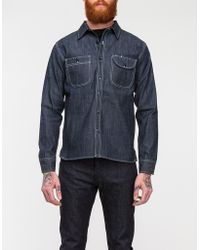 Rogue Territory Washed Grey Caste Work Shirt - Lyst