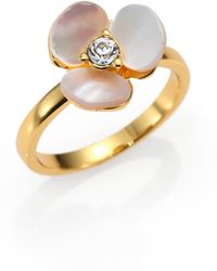 Kate Spade Disco Pansy Mother-Of-Pearl Mini Ring - Lyst