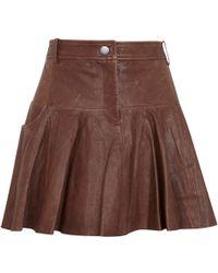 Thakoon Addition - Pleated Leather Skirt - Lyst
