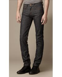 Burberry Shoreditch Raw Selvedge Skinny Fit Jeans - Lyst