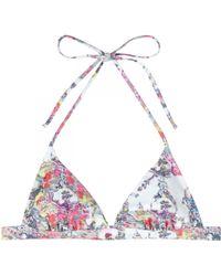 Erdem - India Printed Bikini Top - Lyst