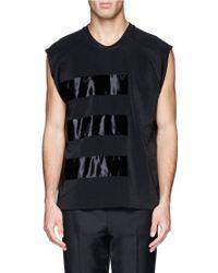 Lanvin - Velvet Stripe Sleeveless T-shirt - Lyst